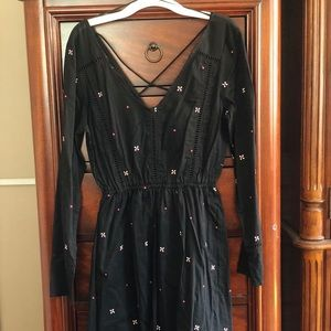 Cotton on short black dress with long sleeves